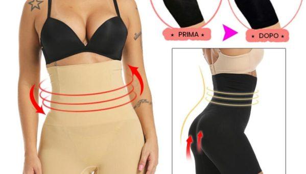 Effetti sulle forme di Slim Pant Bretellato con Prima e Dopo