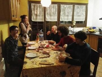 Cenando en Can Pere Petit