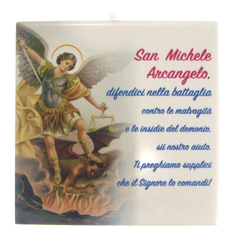 Formella San Michele Arcangelo 10x10 Cm Quadretti