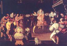 Queen Elizabeth dancing with Robert Dudley