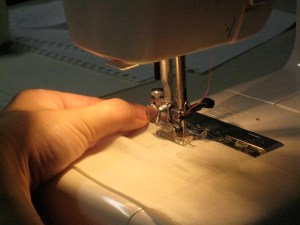 Sew right down the middle of your seam allowance.