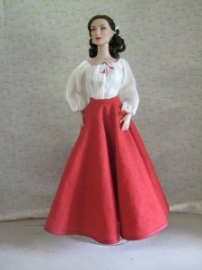 circle skirt worn by a doll