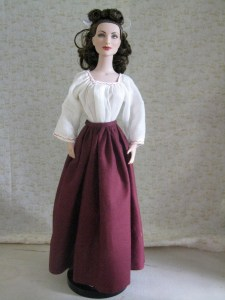 gored skirt on doll