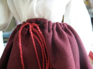 closeup of drawstring being worn