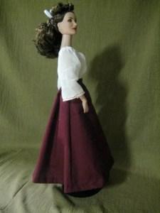 finished skirt - side