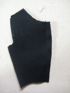 outer fabric back seam