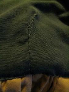 a folded-edge mend