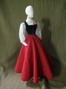 legless doll, dressed