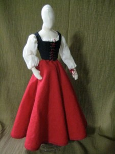 doll, dressed in wench costume