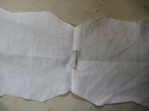 shoulder seams sewn