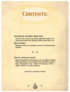 contents page from pattern