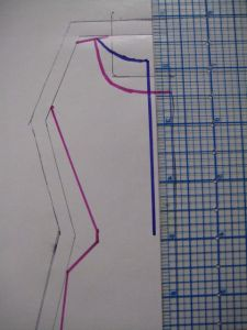 drawing the back closure