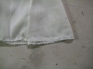 closeup of hem