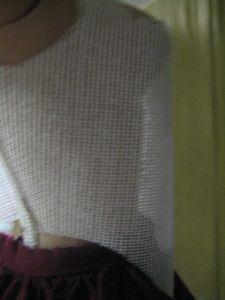 backlit corset showing body inside