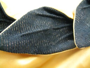 closeup of neckline detail