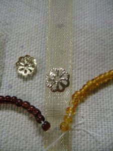 bead threads in place