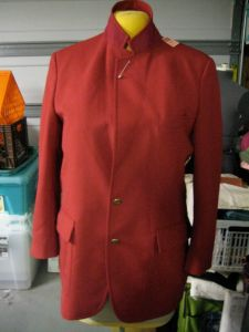 jacket with lapels closed