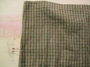 plaid skirt marked
