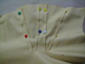 pinning gussets into gusset slits