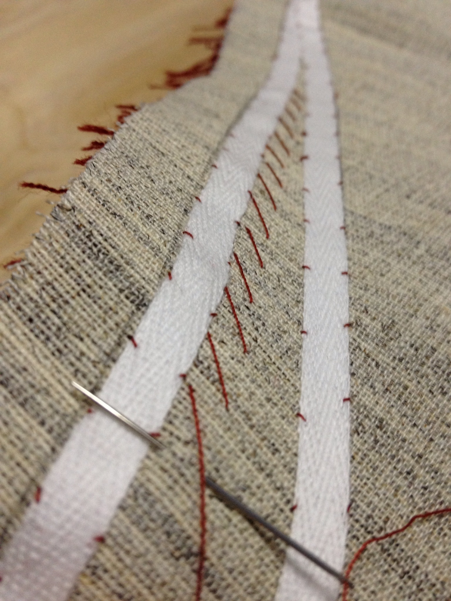Pad stitching progressing.