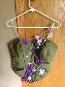 bodice on hanger