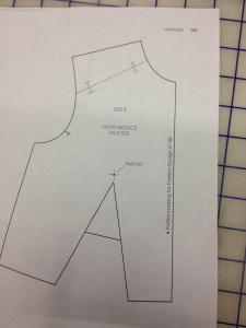 "Draw the yoke line in on the shoulder.  Add notches 1/2"" from the neckline and the armscye."