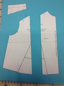 Cut your body piece apart on the vertical line.