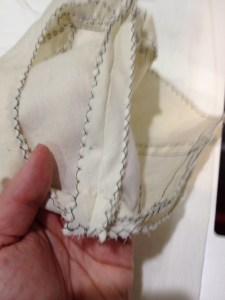 Just to emphasize, your finished side seam should look like this.