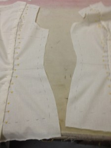 With the side seams, there's no easy way because neither one is straighter than the other.
