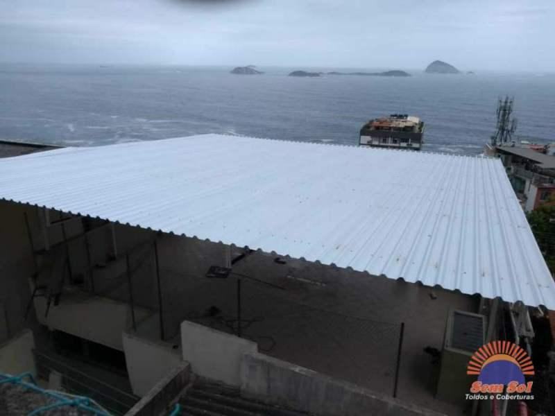 Reforma de cobertura para terraço e estrutura metálica