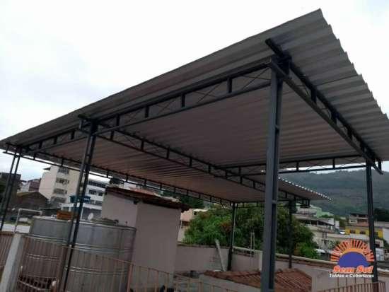 Cobertura para terraço Galvalume - Rio de Janeiro