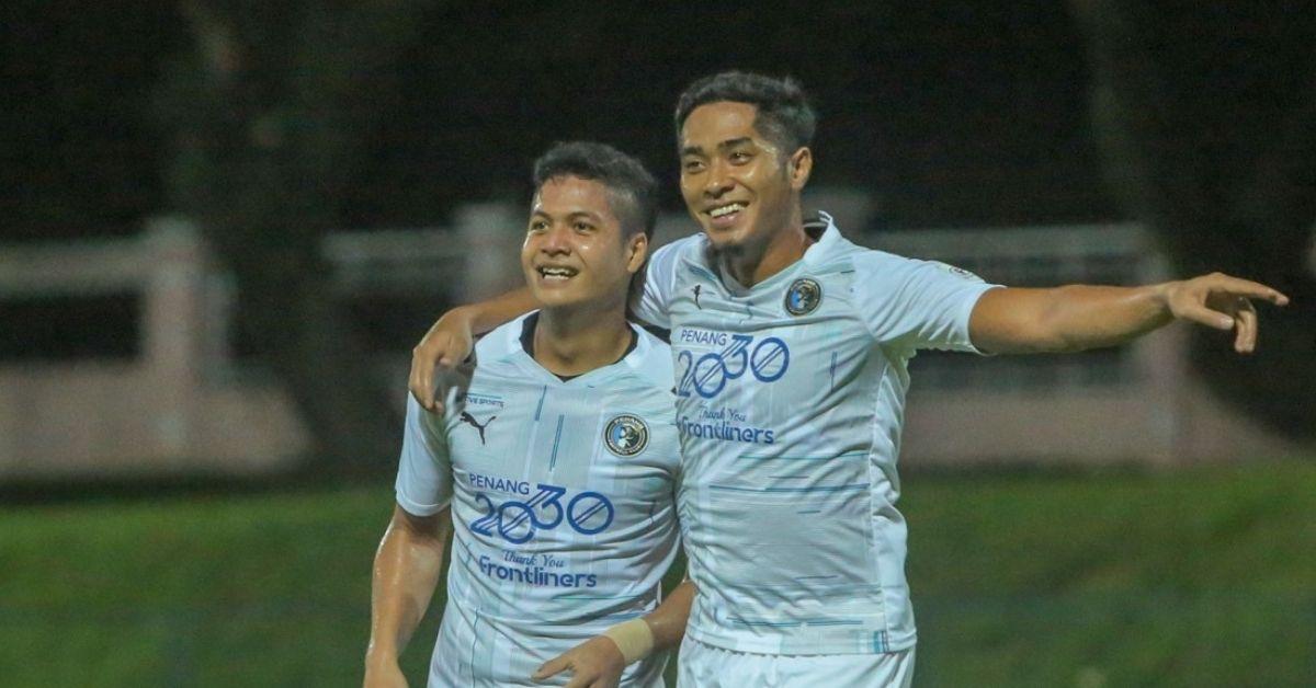 Jafri Firdaus Chew ledak gol persahabatan 2021 penang fc