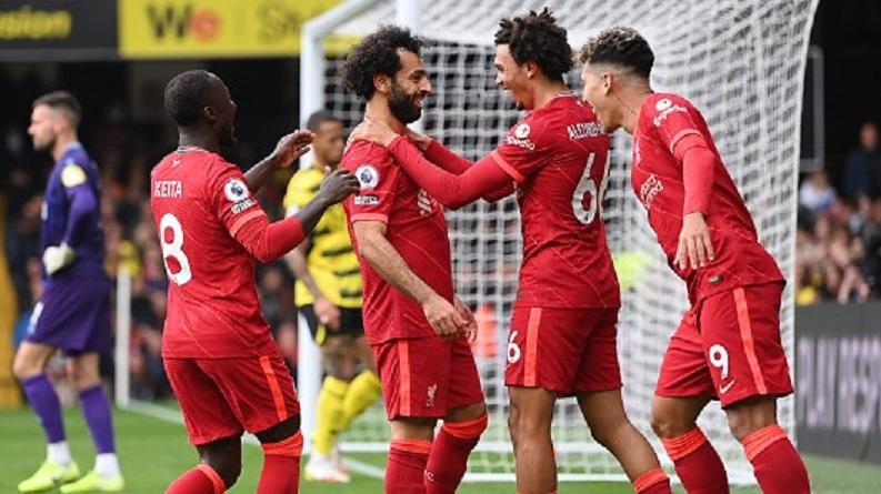 EPL Liverpool Salah Firmino