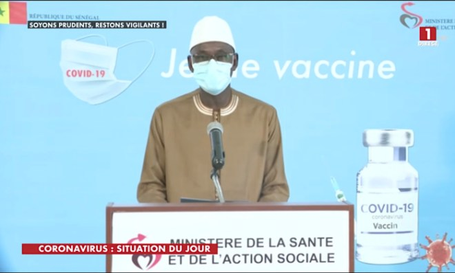 SÉNÉGAL : 1 nouveau cas testé positif au coronavirus, 8 nouveaux guéris, aucun nouveau décès et 5 cas graves en réanimation.