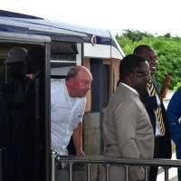 Ayade, AMCON Boss Take Maiden Ride on Calabar Monorail