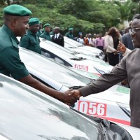 Ayade Unveils Green Police Cadets, Presents Additional Vehicles