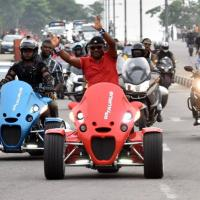 Ayade Leads Bikers in Calabar Bikers Dry Run 2016