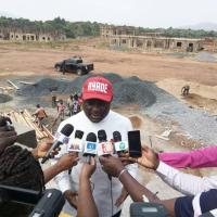 Ayade excited by progress of work at canadian int'l school
