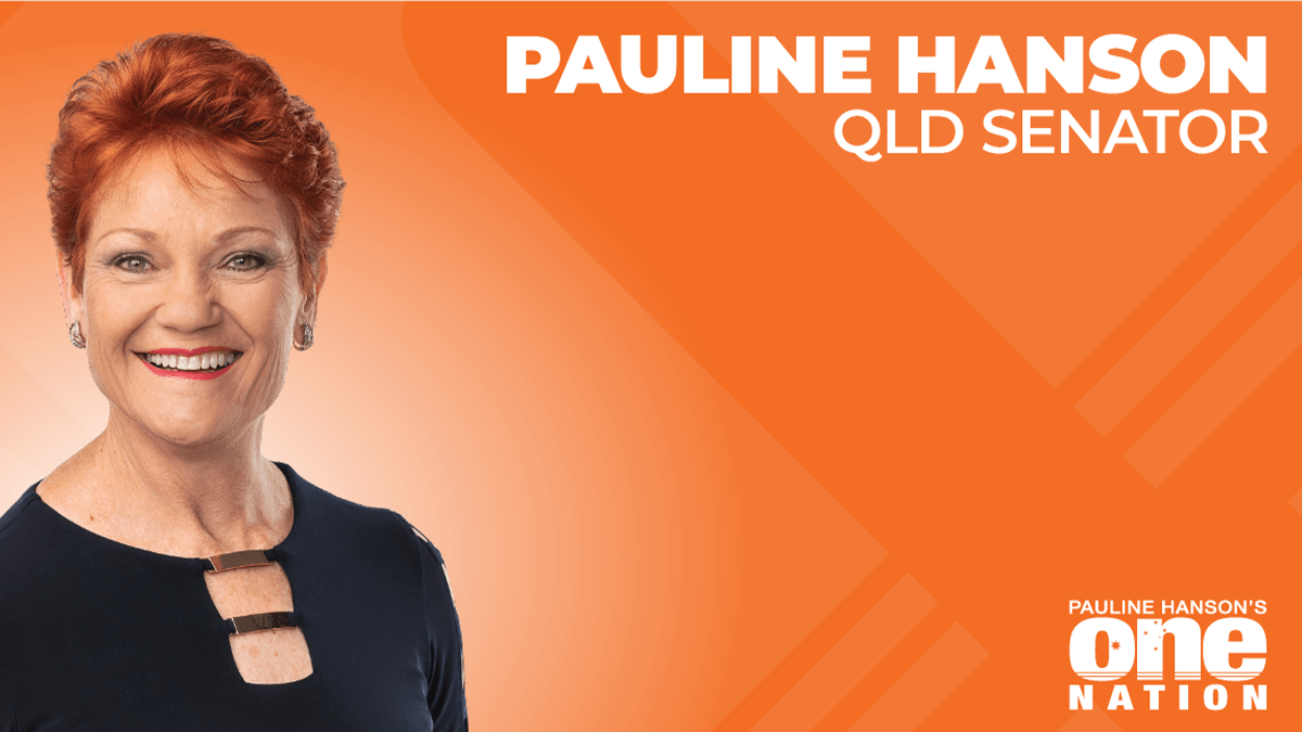 STOP FEDERAL FUNDING TO CHINESE OWNED GAS COMPANY - Senator Pauline Hanson