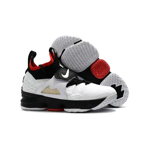 Lebron-15-diamond-turf-white-red-black-single-leg