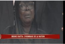 Vidéo – Hommage à Bruno Diatta: la femme du défunt inconsolable
