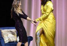 """( 08 Photos ) Michelle Obama affole les réseaux sociaux avec ses cuissards bariolés. En tournée pour la promotion de ses mémoires """"Becoming"""","""