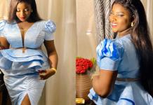 ( 12 Photos ) Sagnsé de Korité : Hanches bien taillées, dans une tenue très tendance: Abiba , une vraie Jongoma qui brille dans ses …