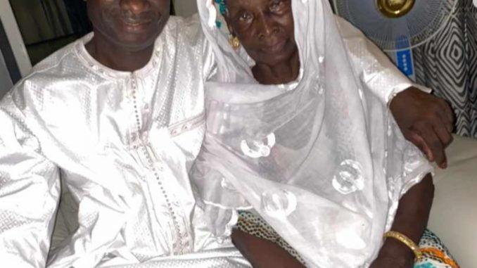 Diop Iseg avec sa Maman