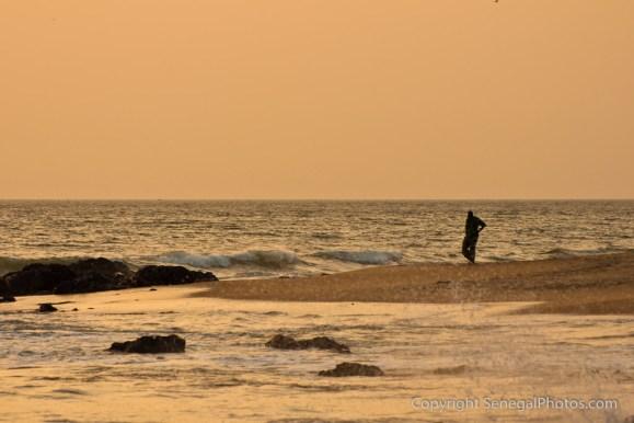 Local beach bustling with life in resort village of La Somone on Petite Côte, Senegal. Photo by Marko Preslenkov.