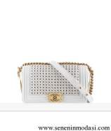 Chanel white boy flap bag
