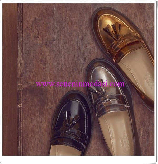 Beymen Club yeni sezon metalik loafer