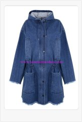 marques-almedia-for-topshop-denim kapüşonlu cepli parka