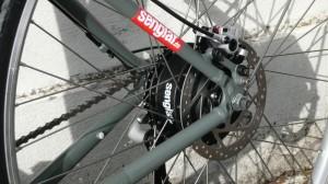 Unsere Auriga-Bremse am Navy-Bike mit Senglarantrieb