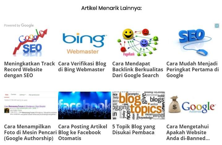 Matched Content Google Adsense - 1